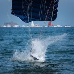 Splashdown (RTA Photography) Tags: torbayairshow2019 torbayairshow paignton torbay rtaphotography nikon d750 tigersfreefallparachuteteam splash parachute sea water thebritisharmy