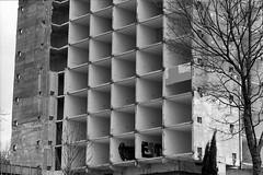Concrete slabs building (Drehscheibe) Tags: bwfp building blackwhite classicblackwhite nikonf2 35mm film fp4plus explore architecture analogica analog