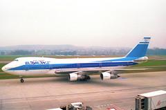 El Al Boeing 747-200; 4X-AXB@ZRH;09.03.1997 (Aero Icarus) Tags: zrh zürichkloten zürichflughafen zurichairport lszh plane avion aircraft flugzeug negativescan