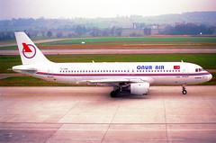 Onur Air Airbus A320-212; TC-ONE@ZRH;09.03.1997 (Aero Icarus) Tags: zrh zürichkloten zürichflughafen zurichairport lszh plane avion aircraft flugzeug negativescan onurair airbusa320 tcone
