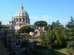 Vatican Garden and Dome of St. Peter's Basilica (Serendigity) Tags: europe italy romancatholic rome stpetersbasilica vatican vaticangarden dome