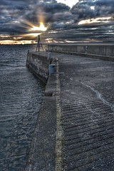 Musselburgh Harbour (Mr_Pudd) Tags: grey nikond750 nikon scotland musselburgh concrete outdoorphotography outdoor sunset harbour afsvrzoomnikkor2485mmf3545gifed nikkor hdr highdynamicrange high dynamic range coast