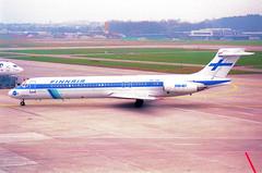 Finnair MD-87; OH-LMA@ZRH;09.03.1997 (Aero Icarus) Tags: zrh zürichkloten zürichflughafen zurichairport lszh plane avion aircraft flugzeug negativescan finnair md87 ohlma