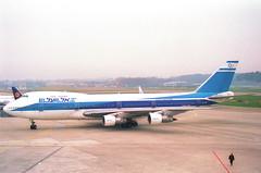 El Al Boeing 747-200; 4X-AXB@ZRH;09.03.1997 (Aero Icarus) Tags: zrh zürichkloten zürichflughafen zurichairport lszh plane avion aircraft flugzeug negativescan elal boeing747200 4xaxb jumbojet