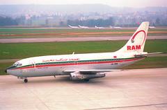 Royal Air Maroc Boeing 737-200; CN-RMK@ZRH;09.03.1997 (Aero Icarus) Tags: zrh zürichkloten zürichflughafen zurichairport lszh plane avion aircraft flugzeug negativescan royalairmaroc boeing737200 cnrmk