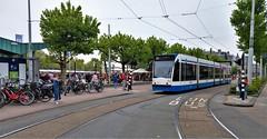Langs de Lijn: Zondag Marktdag (Peter ( phonepics only) Eijkman) Tags: amsterdam city combino gvb tram transport trams tramtracks trolley rail rails strassenbahn streetcars nederland netherlands nederlandse noordholland holland