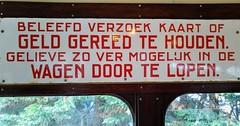 Beleefd Verzoek (Peter ( phonepics only) Eijkman) Tags: amsterdam city gvb ema museummaterieel museumstel museum museumlijn rail rails reflectionsofthepast vintage tram transport trams tramtracks trolley strassenbahn streetcars nederland nederlandse netherlands noordholland holland