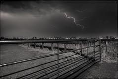 Yesterday evening's thunderstorm (Rob Schop) Tags: onweer thunderstorm lightning weather ridderkerk zuidholland safety wideangle bulb samyang12mmf20 f63 sonya6000 longexposure pscc lrcc