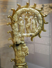 Crosier head - Virgin in Glory and Crucifixion - Paris, 2nd quarter 14th Century (Monceau) Tags: muséedecluny crosier ivory metal crucifiction virgininglory 14thcentury