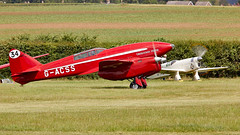 Comet (Bernie Condon) Tags: de havilland dh88 comet racer racing plane aircraft aviation vintage preserved classic shuttleworth oldwarden airshow display flying uk british collection airfield festivalofflight june2019
