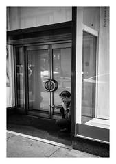 FILM - Phone check (fishyfish_arcade) Tags: 35mm analogphotography bw blackwhite blackandwhite canonsureshotz135 filmphotography filmisnotdead hp5 istillshootfilm monochrome newyork analogcamera compact film ilford mono streetphotography