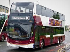 Lothian Buses 1087 (SJ19OXC) - 31-05-19 (peter_b2008) Tags: lothianbuses lothiancity edinburgh volvo b8l alexanderdennis adl enviro400lxb 1087 sj19owc triaxle buses coaches transport buspictures