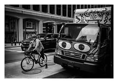 FILM - Keep your eyes on the road (fishyfish_arcade) Tags: 35mm analogphotography bw blackwhite blackandwhite canonsureshotz135 filmphotography filmisnotdead hp5 istillshootfilm monochrome newyork analogcamera compact film ilford mono streetphotography bicycle