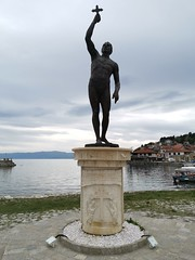 Catcher of a Cross Statue, Ohrid (sandorson) Tags: ohrid northmacedonia északmacedónia
