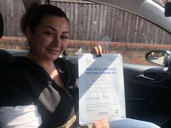 Massive congratulations  to Nicoleta Nedea passing her driving test!   www.leosdrivingschool.com  WARNING: Getting your license is a good achievement however being a SAFE driver for life is the biggest achievement!