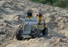 Dark Road to Travel (captain_joe) Tags: toy spielzeug 365toyproject lego minifigure minifig car auto jeep johnny thunder