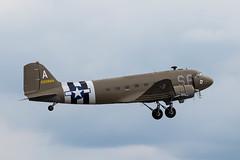 2100884/N147DC Douglas C-47A Dakota (amisbk196) Tags: airfield aircraft dday dday75 flickr amis aviation unitedkingdom daksoverduxford 2019 uk duxford 2100884n147dc douglas c47a dakota