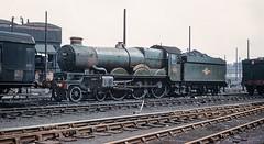 7033. 'Hartlebury Castle'. (Alan Burkwood) Tags: gwr collett 7033 hartleburycastle steam locomotive scanned kodachrome slide