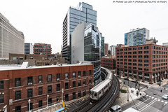 Scout Shot (20190524-DSC08220-Edit) (Michael.Lee.Pics.NYC) Tags: chicago cta el martparcwells parkinggarage merchandisemart architecture cityscape train track sony a7rm2 voigtlanderheliar15mmf45