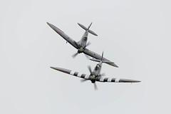 Daks Over Duxford (amisbk196) Tags: airfield aircraft dday dday75 flickr amis aviation unitedkingdom daksoverduxford 2019 uk duxford mh344 ml407 spitfire