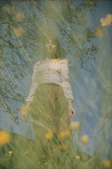 (Silvia Kuro) Tags: double exposure dream dreamy wonderland fairytale folk field fileds prato flower flowers plants nature natura portait film 35mm analog analogue analogico analogica yellow flora floral