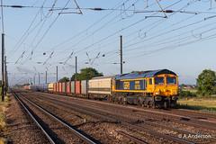 66753 20190605 Biggleswade (steam60163) Tags: class385 hitachi biggleswade scotrail class66 66753 gbrf gbrailfreight
