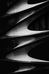 Swosh (justingreen19) Tags: 28th 520west 520west28th chelsea hadid highline hudsonyards modern ny nyc newyork newyorkcity westchelsea zahahadid apartments architecture building condos curves detail facade justingreen19 manhattan meatpackingdistrict residential swirl swosh urban urbanabstract urbanlines mono grain black white