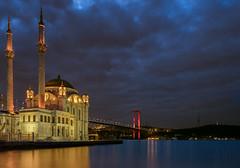 Mosque & Bridge (Star Wizard) Tags: beşiktaş istanbul turkey city clouds water design light