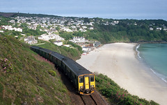 Carbis Bay (DH73.) Tags: carbis bay cornwall stivesbay gwr sprinter train 150202 beach seaside kodak retina iia 016 ektar 100