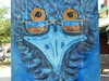 An Emu with Glasses (mikecogh) Tags: welland emu mural stobiepole telegraphpole glasses humour humor