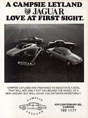 1977 Campsie Leyland XJ 6 XJ12 XJS V12 Jaguar Cars Aussie Original Magazine Advertisement (Darren Marlow) Tags: 1 2 7 9 19 77 1977 x j s xj xj6 xj12 v v12 xjs c capsie leyland car cool collectible collectors classic a automobile vehicle e england english b british britain 70s