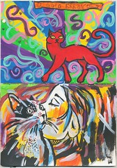 colorful zine cat street art (Snooky & Angie) Tags: streetart grafitti cat paint zine