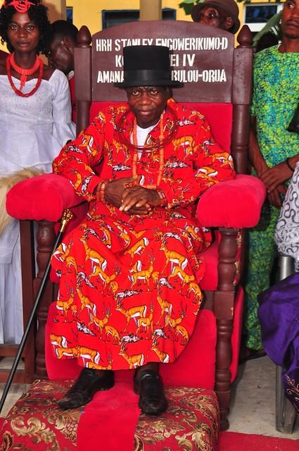 HSDickson - Gov. Dickson at the Coronation of HRH Stanley Engowerikumo, The Kolobriowei IV Amananaowei Of Bulou-Orua