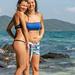 Girls in a bikini on a coral island, Phuket, Thailand