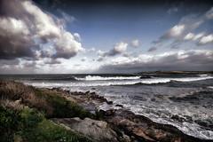 Maroubra Surf (Peter Polder) Tags: australia beach bay clouds seascape sky skyline landscape maroubra ocean overcast rocks wave waves sydney surf