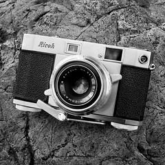 Ricoh 500 (Hadoland) Tags: ricoh camera 500 ricoh500 45mm lens vintage retro cameracollection filmcamera 35mm 35mmfilm bw rangefinder