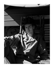 """""""To the Far Shore - 6 June 1944"""" (photo_secessionist) Tags: ww2 wwii war soldier usarmy 29thdivision reenactor recreated fakevintage portrait blackwhite bw bn leica leicaiiia 1939 film 35mm analog vintagecamera leitz elmarf355cmlens ilford hp5 selfdeveloped kodak d76 dday 75thanniversary 6june1944 vmmv"""