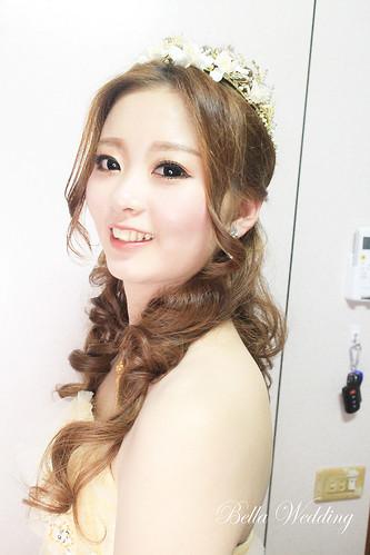 嘉義新秘,鹿草新秘,新秘,白紗造型,精緻眼妝,日系可愛新娘造型,長髮浪漫燈籠造型