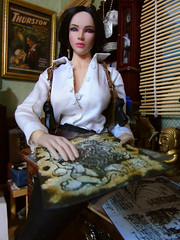 Old Maps & Documents (Blondeactionman) Tags: bamhq dollphotography diorama playscale phicen onesixth onesixthscale jakes study doll agentofbam jayden