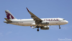 Malta International Airport (Redeemer_Saliba) Tags: qatar airways airbus a320232wl a7ahr landing lmml luqa airport rwy 13