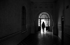 (cherco) Tags: woman granada solitario solitary silhouette shadow silueta street sombra sombras lonely light lights luz alone architecture arquitectura arch arco blackandwhite blancoynegro canon composition calle chica door salida exit reflexions black spain