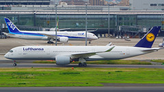 Airbus A350-941, D-AIXH, Lufthansa (tkosada.mac) Tags: lufthansa staralliance airbus a359 tokyointernationalairport hanedaairport hnd rjtt