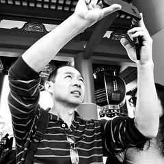 asakusa, japan (michaelalvis) Tags: asia asakusa bw blackandwhite buildings candid city cellphones cellphone pedestrian fujifilm flickr photography iphone japan japanese japon monochrome mono nihon nippon peoplestreet portrait people peoplestreets phone streetphotography streetlife street shrine travel tokyo urban x70 selfie happyplanet asiafavorites