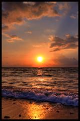 Sunrise magic.... (Grace Courbis) Tags: pompanobeach pompano florida sunrise morning se sea beach beachlife beautiful sky clouds sun water ocean