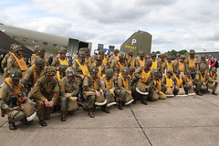 The Paratroopers. (NTG842) Tags: duxford england june 2019 daks over normandy event wednesday 05june2019 celebration airborne landings dday 1944 paratroopers army us