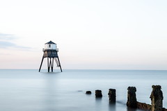 Dovercourt Lighthouse in Harwich, Essex (Dave Denby) Tags: beach beautiful blue built castiron clouds coast day dovercourt england essex exposure harwich heritage high historic history horizon landmark landscape legged light lighthouse long marine maritime nature nopeople ocean old outdoor restored safety sand sea seascape seaside sky structure tourism tower travel uk victorian water waterfront white wood wooden