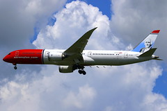 "Norwegian Long-Haul Boeing 787-9 Dreamliner ""Ole Bull"" LN-LNJ (Manuel Negrerie) Tags: lnlnj norwegian boeing 7879 dreamliner longhaul lcc 787 jetliner airliner spotting livery design norway aircraft airlines canon cdg skies transport plane composite technology avgeeks aviation"