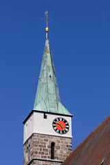 Herzogenaurach in Mittelfranken (Helmut44) Tags: deutschland germany bayern franken mittelfranken herzogenaurach stadtpfarrkirche kirche kirchturm architektur altstadt church churchtower uhr