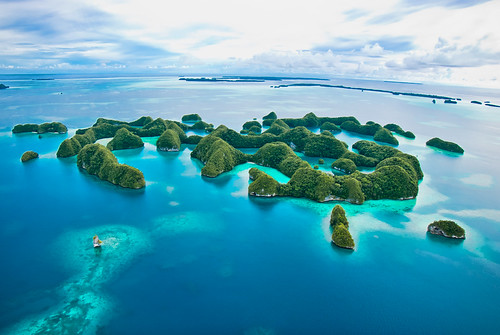 Vista aerea Rock Islands
