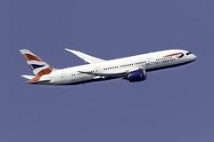 British Airways 787-8 G-ZBJI at London Heathrow LHR/EGLL (dan89876) Tags: british airways boeing 787 dreamliner 7878 b788 gzbji london heathrow international airport takeoff 09r banking lhr egll